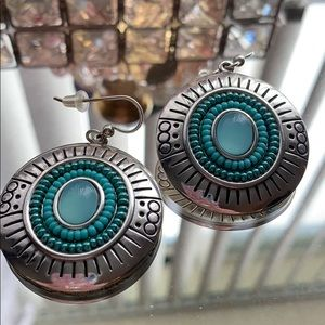 Brighton Silver & turquoise earrings